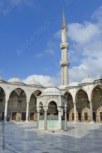 Poster Artistiek mon. Istanbul, Turchia, Moschea Blu Sultan Ahmet Camii