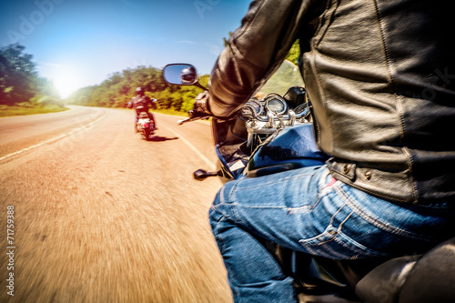 Bikers First-person view Wallpaper Mural