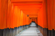 Leinwanddruck Bild - Fushimi Inari Taisha shrine in Japan
