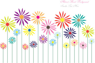 Naklejka abstract vector flowers background