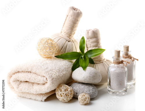 Poster Spa Spa setting isolated on white