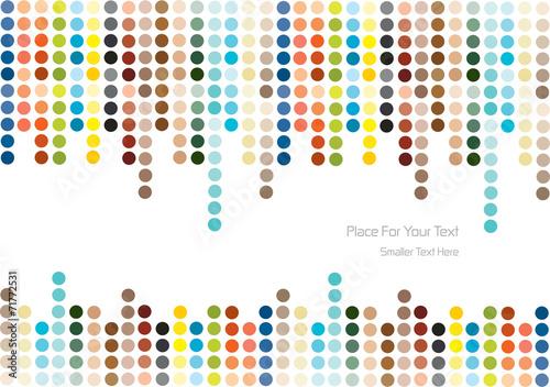 color vector polka dots background