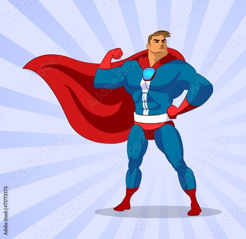 Aluminium Prints Superheroes Super hero. Vector illustration on a background