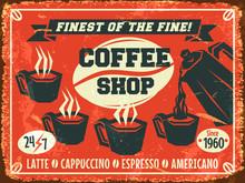 Coffee Background. Vector Illustration.