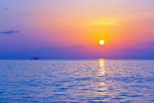 Seaplane At Sunset - Maldives