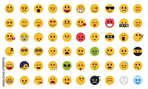 Photo  Complete flat emoji set