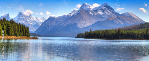 Printed kitchen splashbacks Mountains Maligne Lake