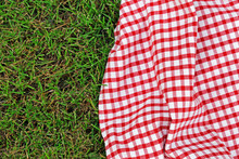 Checkered Plaid For Picnic On ...