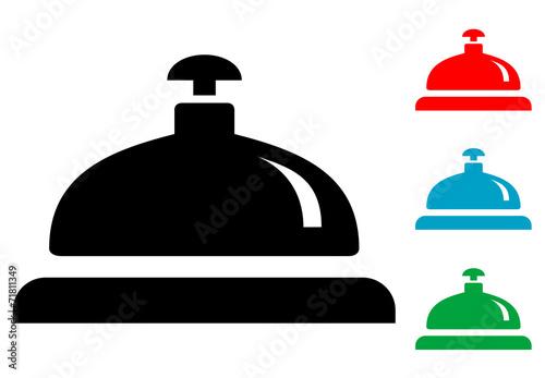 Fotografie, Obraz  Pictograma timbre de hotel con varios colores