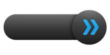 BLANK VECTOR Button (rectangular Blue Symbol Arrows)