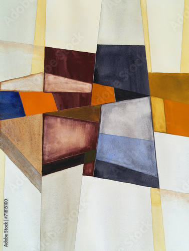 a modernist abstract watercolor - 71815100