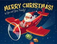 Santa On The Plane. Christmas ...