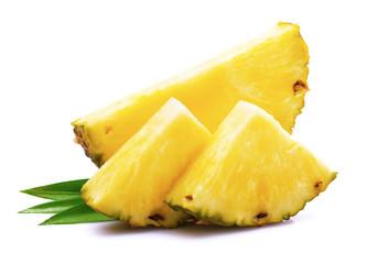 fototapeta dojrzały ananas z liścia