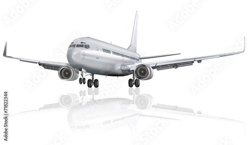 Fotografia  Passagierflugzeug freigestellt