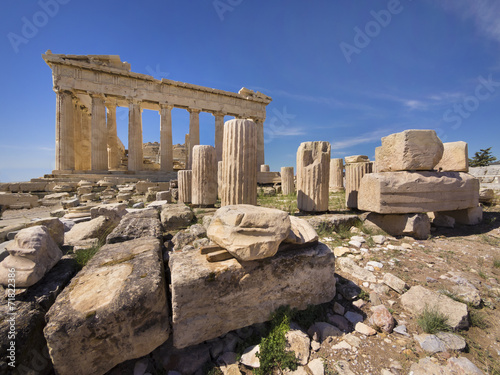 Staande foto Athene Parthenon temple on the Acropolis of Athens,Greece