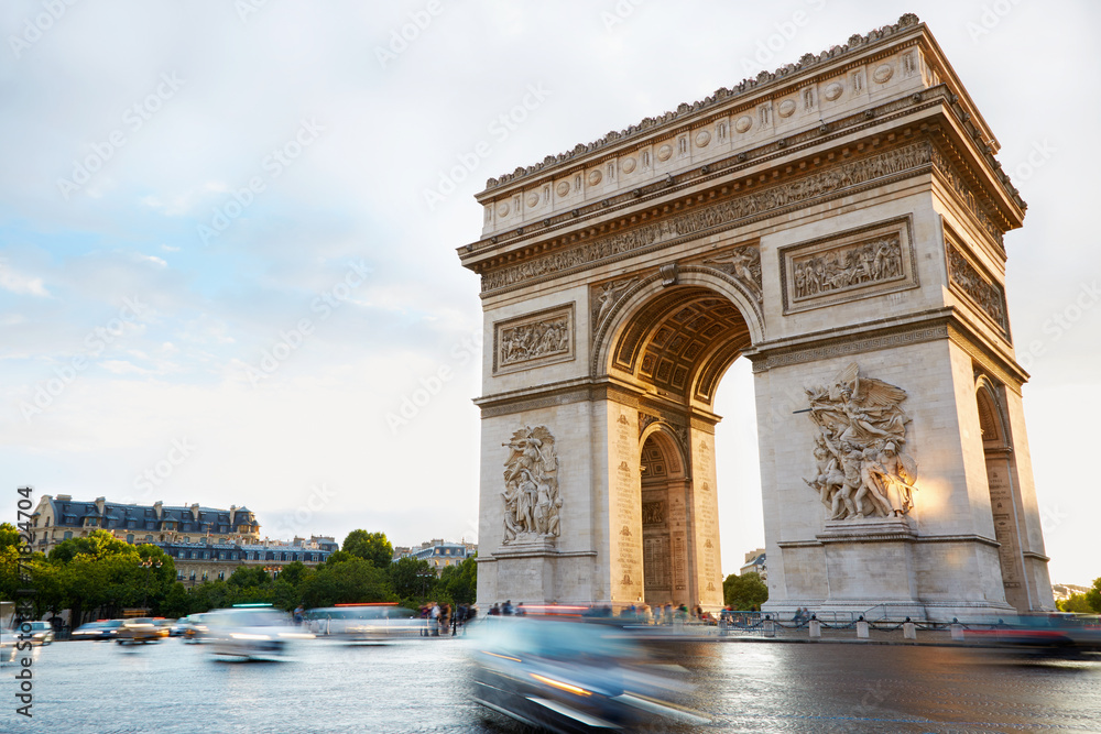 Fototapeta Arc de Triomphe in Paris afternoon