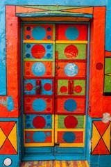 Panel Szklany Podświetlane Wenecja Casa Multicolore, Burano, Venezia, Veneto, Italia