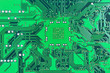 canvas print picture - Close up of a printed green computer circuit board