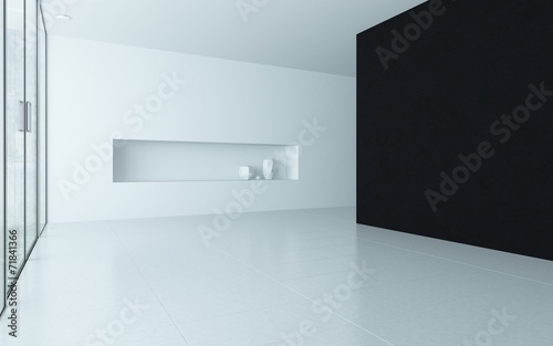 Modern design empty room interior with alcove Fototapeta