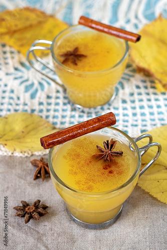 Fotografie, Obraz  Autumn jelly dessert kissel with cinnamon