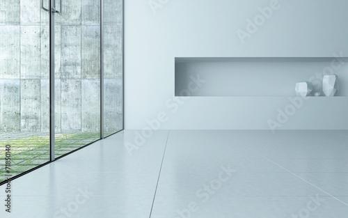 Slika na platnu Modern empty room interior with alcove