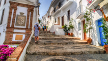 View Of A Street In Frigiliana, Pueblo Blanco, Spain