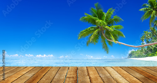 Poster Palmier Tropical Paradise Beach
