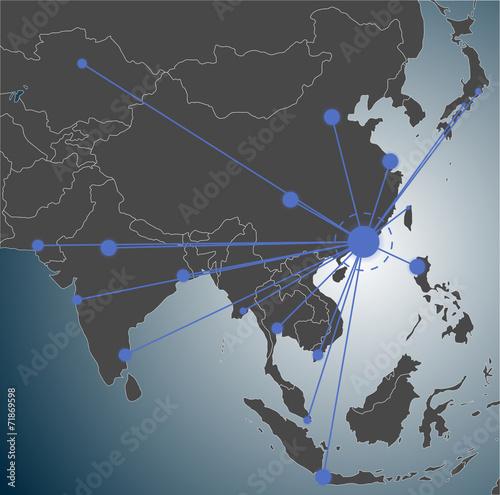 Photo  Hongkong headquarter, Asia Map