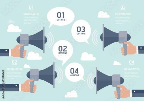 Communication infographic elements Fototapeta