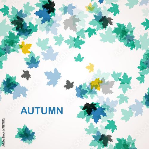 Foto op Canvas Bloemen vrouw Autumn seasonal background