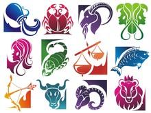 Set Of Zodiac Symbols