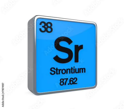 Strontium Element Periodic Table Buy This Stock Illustration And