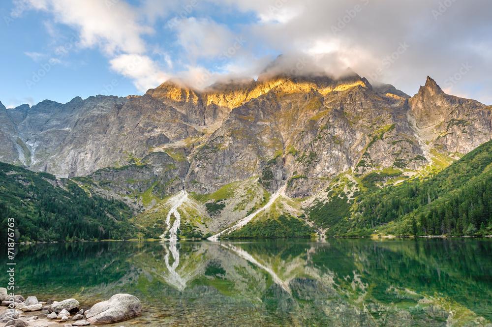Fototapety, obrazy: Beautiful scenery of Tatra mountains and lake in Poland