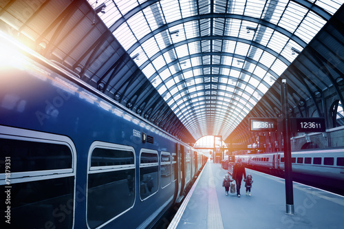 art railway station Canvas Print