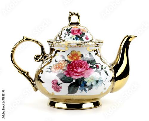Obraz na plátně China teapot isolated on white background