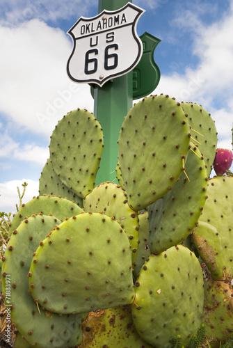 Spoed Foto op Canvas Route 66 Kennzeichnung der Route 66, USA