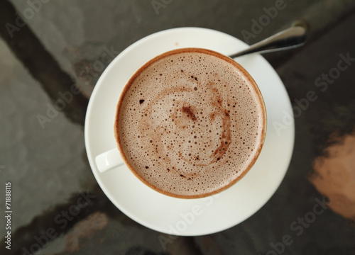 Foto op Plexiglas Chocolade cup of hot chocolate