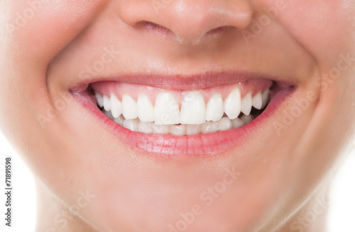 Close-up with perfect smile. #71891598