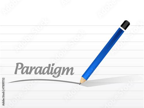 Fotografie, Obraz  paradigm message sign illustration
