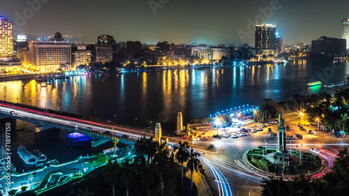 Canvas Prints Africa Cairo at night
