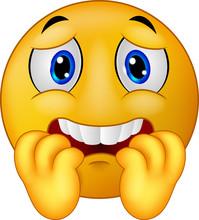 Scared Emoticon Smiley