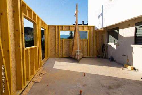 Fotografie, Obraz  Construction ossature bois