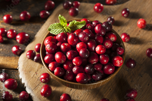 Fotografia  Raw Organic Red Cranberries