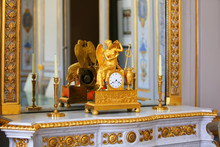 Antique Clock With Figurine Of...