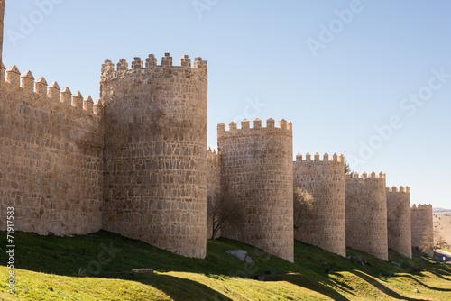 Leinwand Poster Muralla de Ávila