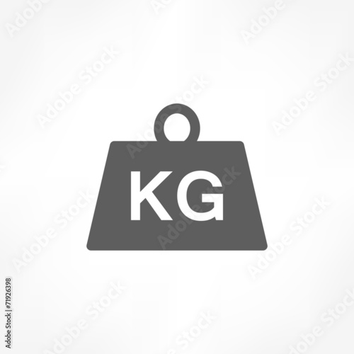 Fotografia  weight kilogram icon