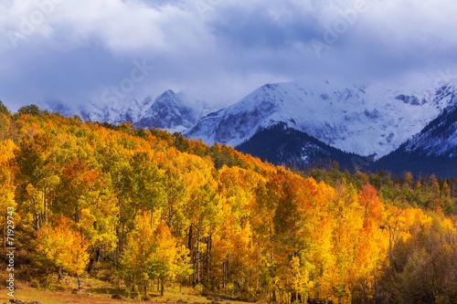 Deurstickers Herfst Autumn mountains