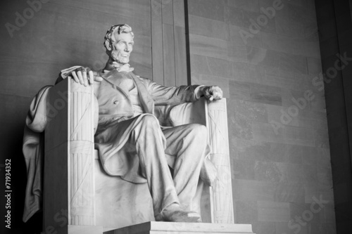 Abraham Lincoln statue, Lincoln memorial in Washington Tableau sur Toile