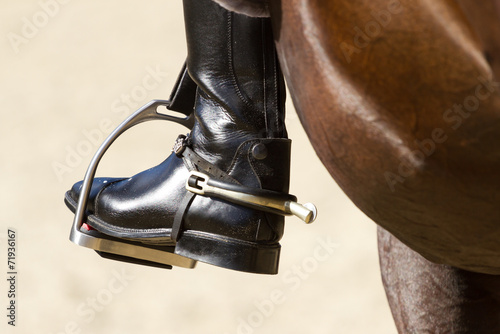 La pose en embrasure Equitation Rider's leg