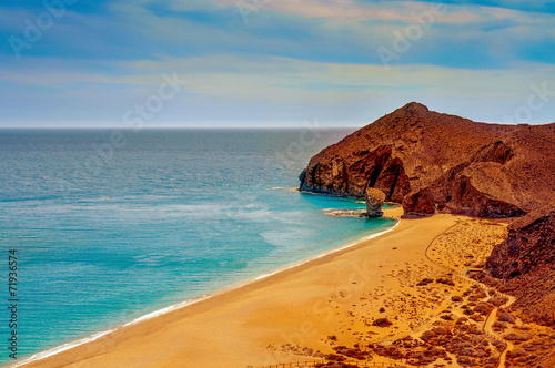 Playa de los Muertos beach in Cabo de Gata-Nijar Natural Park, S